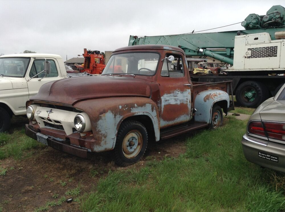 1954 Ford F-100 parts truck, restoration project, rat rod ... - photo#12