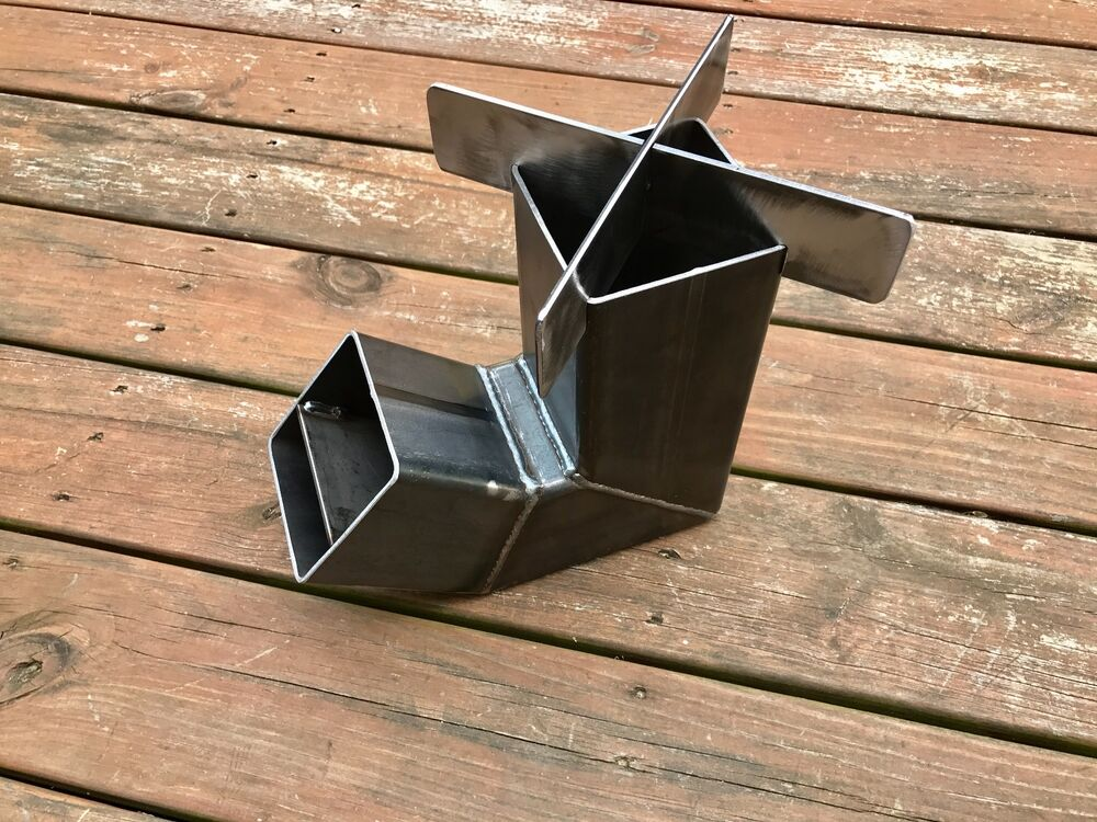 Self Feeding Rocket Stove With Removable Top Camping Stove