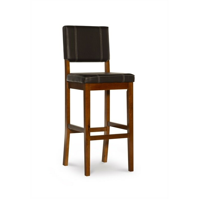 Linon Milano 30 Bar Stool With Back Without Arms No Swivel