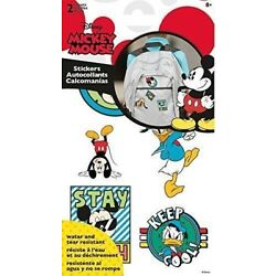 Sticker Stickables Tyvek - Mickey And Friends - 2 Sheet New Licensed st1403