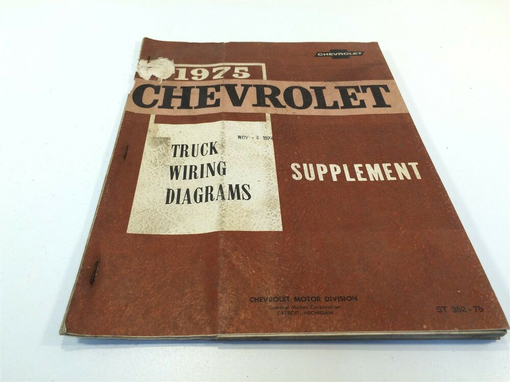 1975 Chevrolet Truck Wiring Diagrams Supplement St