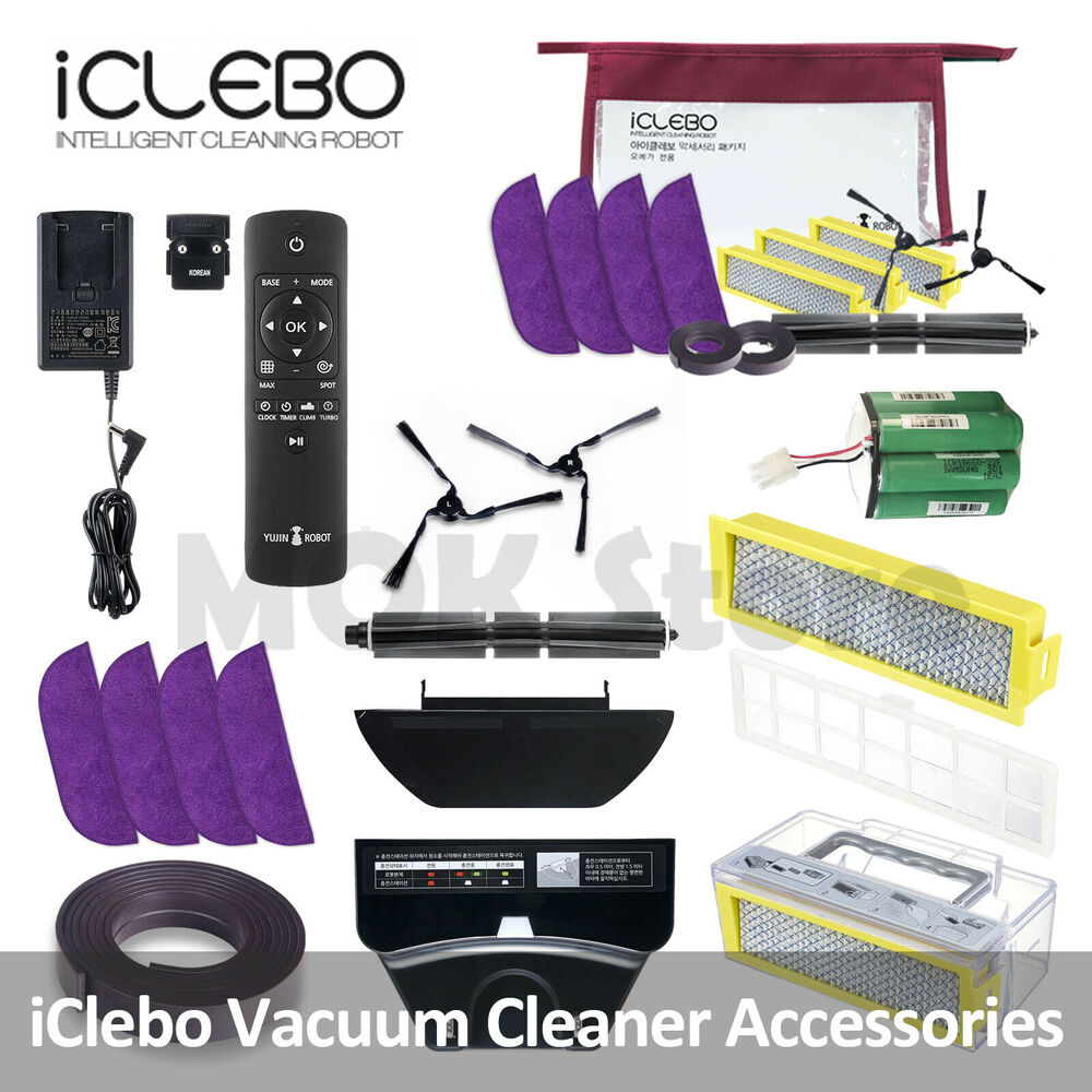iclebo accessory package for omega ycr m07 robot vacuum cleaner filter brush etc ebay. Black Bedroom Furniture Sets. Home Design Ideas