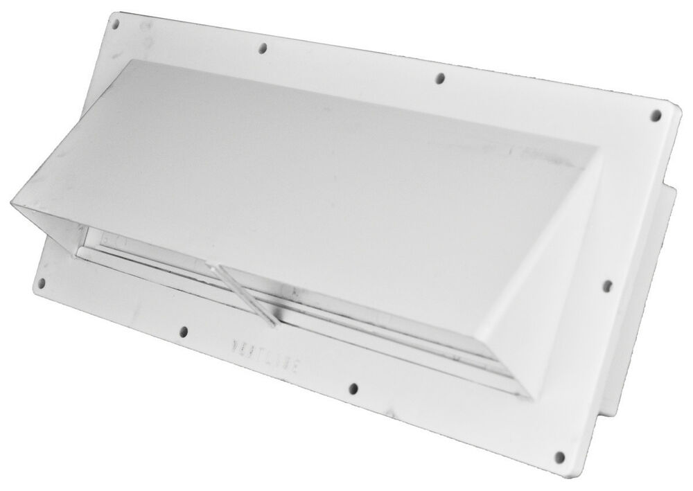 Mobile home rv ventline white exterior sidewall range hood - Exterior wall vent for rv range hood ...