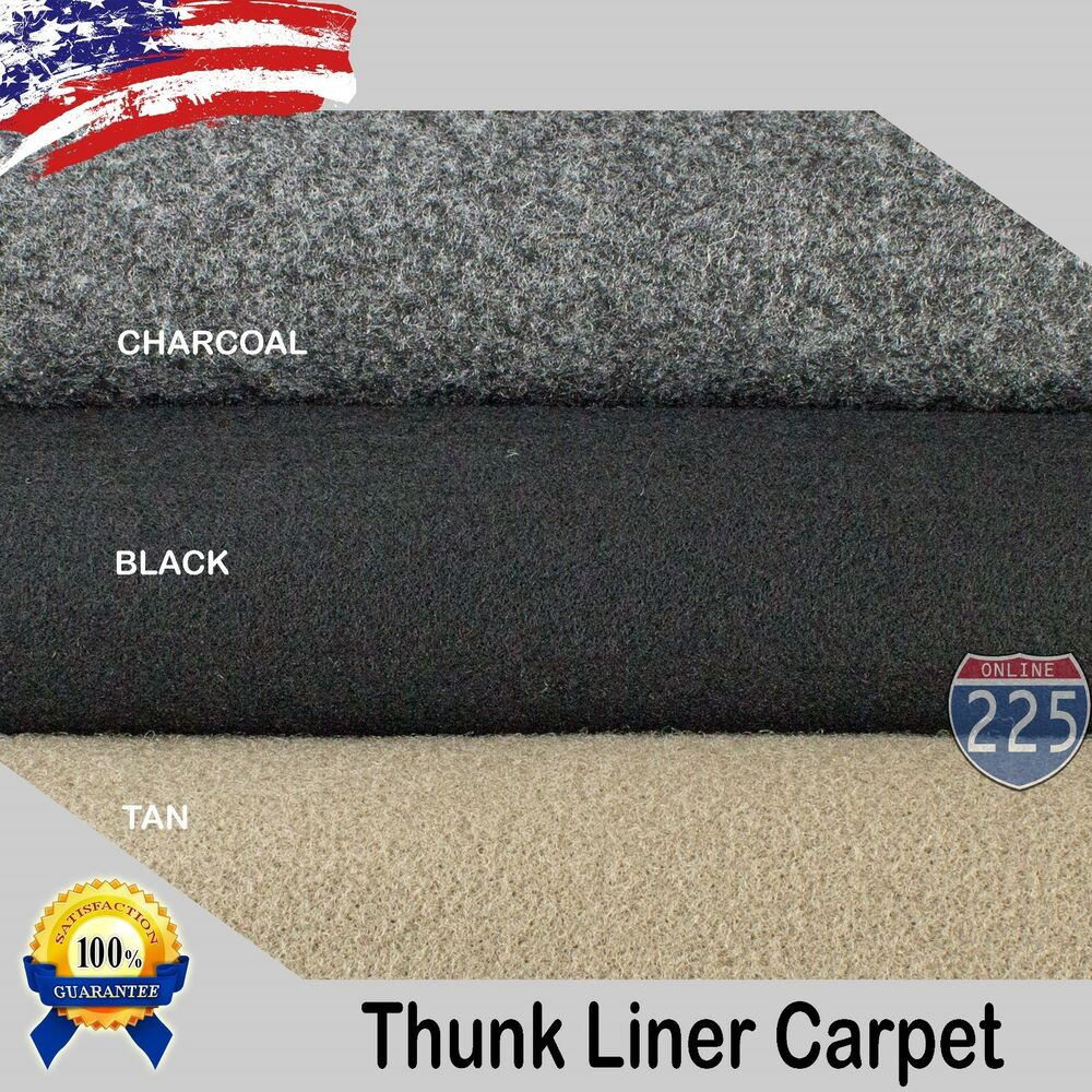Black/Charcoal/Tan Un-Backed Automotive Trunk Liner Carpet