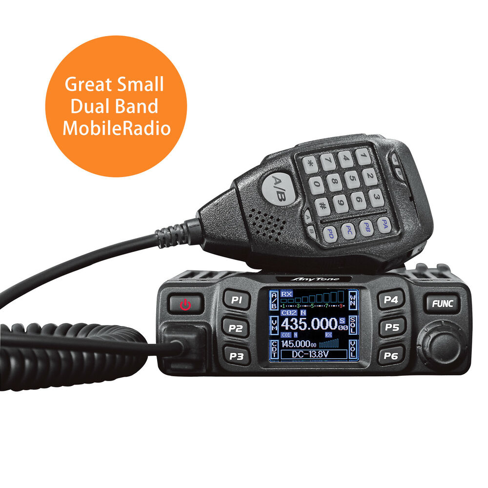 anytone at778uv dual band transceiver mobile radio vhf uhf two way amateur radio ebay. Black Bedroom Furniture Sets. Home Design Ideas