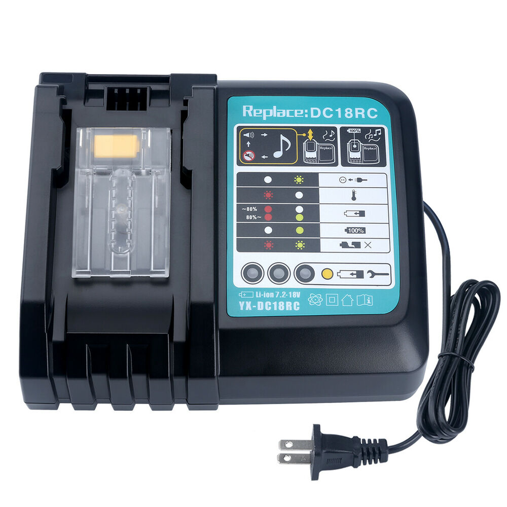 New Lithium Ion Battery Charger For Makita 18v Lithium Ion Battery Bl1830 Bl1815 Ebay