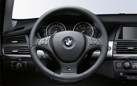 bmw genuine m sport steering wheel cover trim black. Black Bedroom Furniture Sets. Home Design Ideas