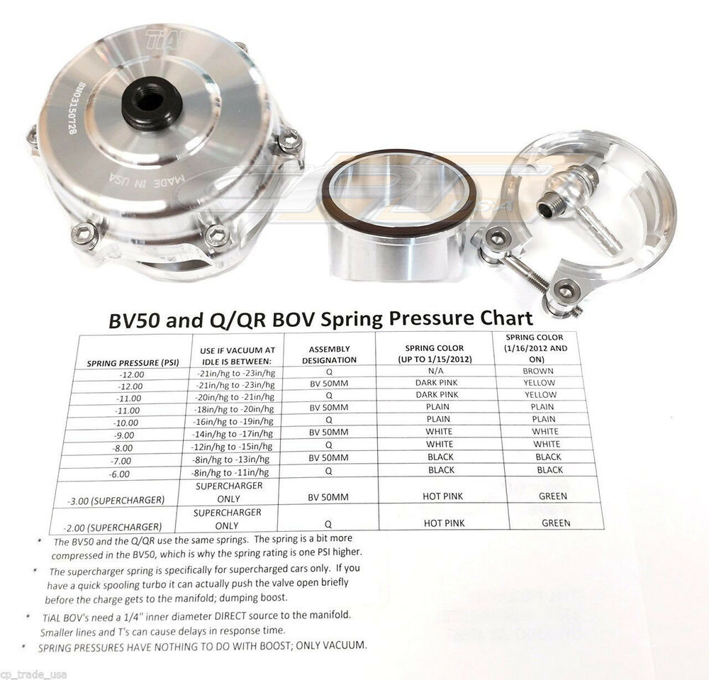 Tial Q Blow Off Valve Bov 50mm 10 Psi With Aluminum Flange New