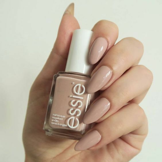 Fake Nails: Hand Painted Tan Nude Press On Nails