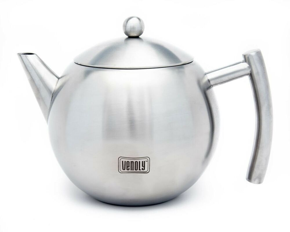 stainless steel tea pot with removable infuser for loose. Black Bedroom Furniture Sets. Home Design Ideas