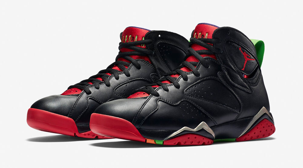 666327fcbce5bf Details about Nike AIR JORDAN 7 Retro Black University Red Green Cool Grey  SIZE 17 BRAND NEW