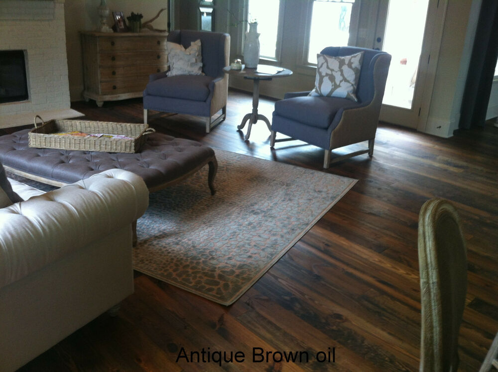 Wide Plank Prefinished Heart Pine Flooring Tavern Grade 6 8 And 10 4 Colors Ebay