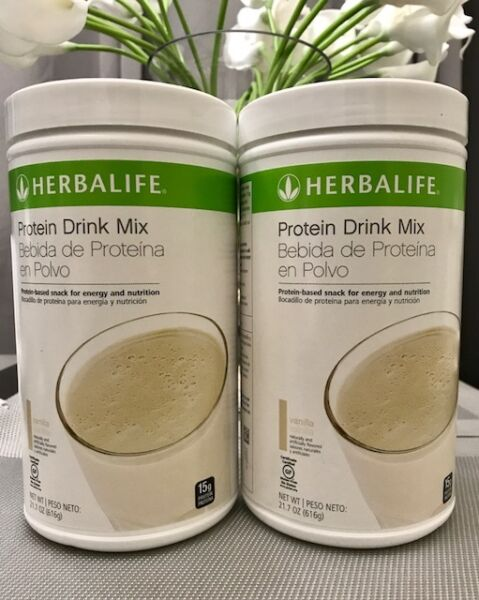 NEW 2X HERBALIFE PROTEIN DRINK MIX (VANILLA OR CHOCOLATE)