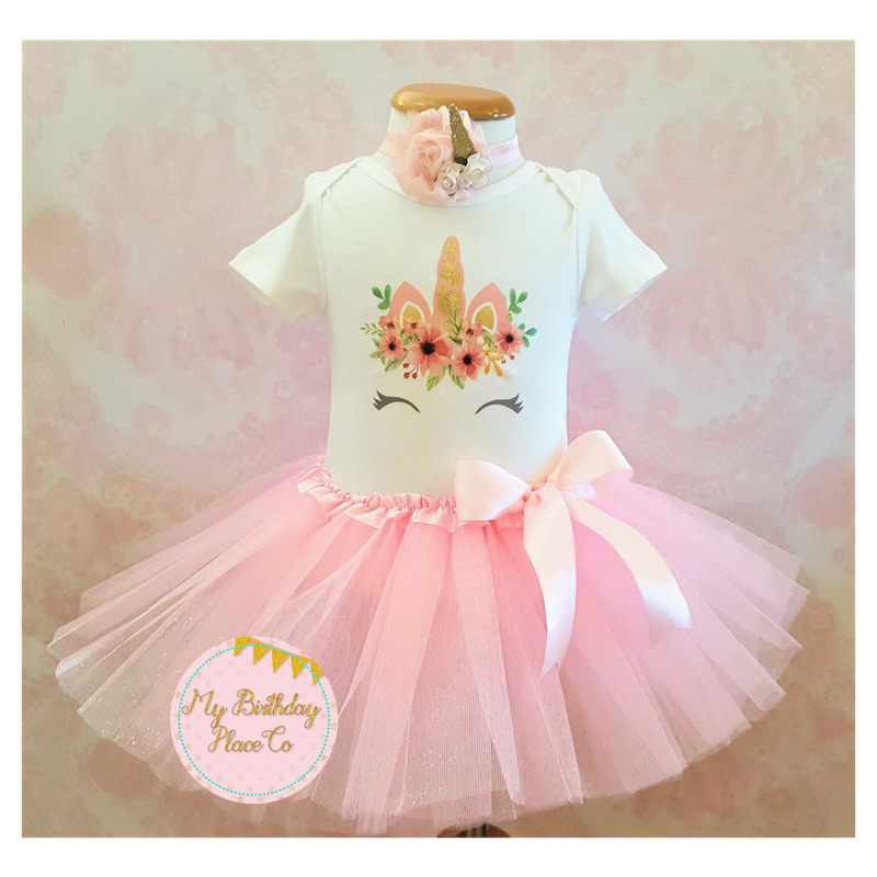Unicorn birthday outfit,Unicorn tutu outfit,Pink tutu set ...