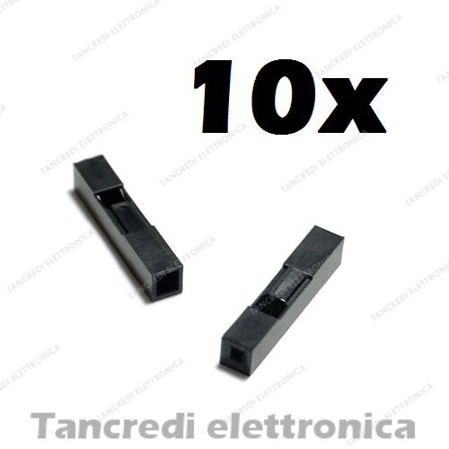 10x connettore dupont 1 pin via poli contatto femmina maschio connectors header