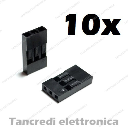 10x connettore dupont 3 pin vie poli contatto femmina maschio connectors header