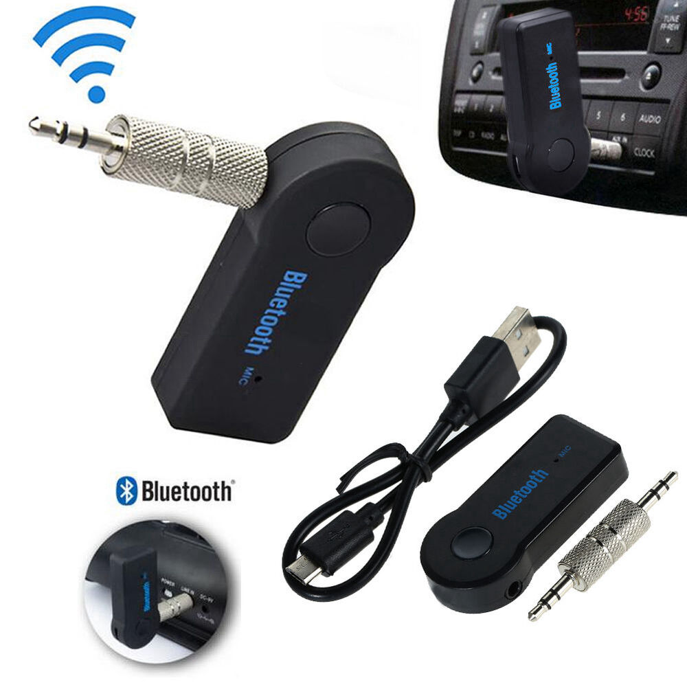 car aux bluetooth wireless stereo audio music receiver 3. Black Bedroom Furniture Sets. Home Design Ideas