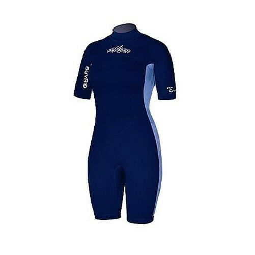 c4cd08ecda Details about Womens 2mm Bare Crush Wetsuit Spring Suit Shortie Ladies 12  Dive Surf Shorty Sky