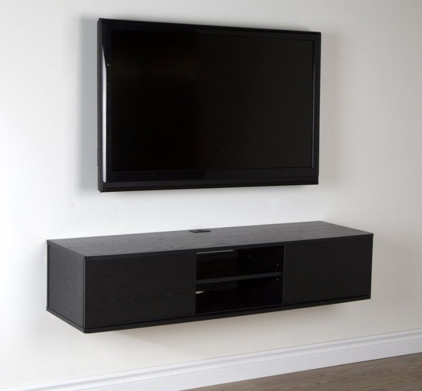 Wall Mount Tv Stand Media Console Center Storage Shelves