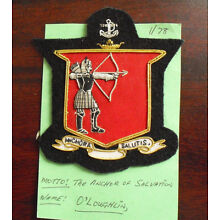 Embroidered Patch Family Crest Coat of Arms O'Loughlin with Moto LOOK