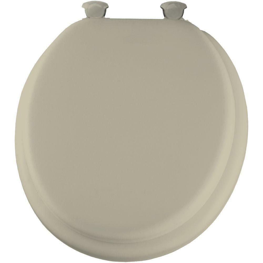 Soft Padded Round Closed Front Bathroom Toilet Seat Lid