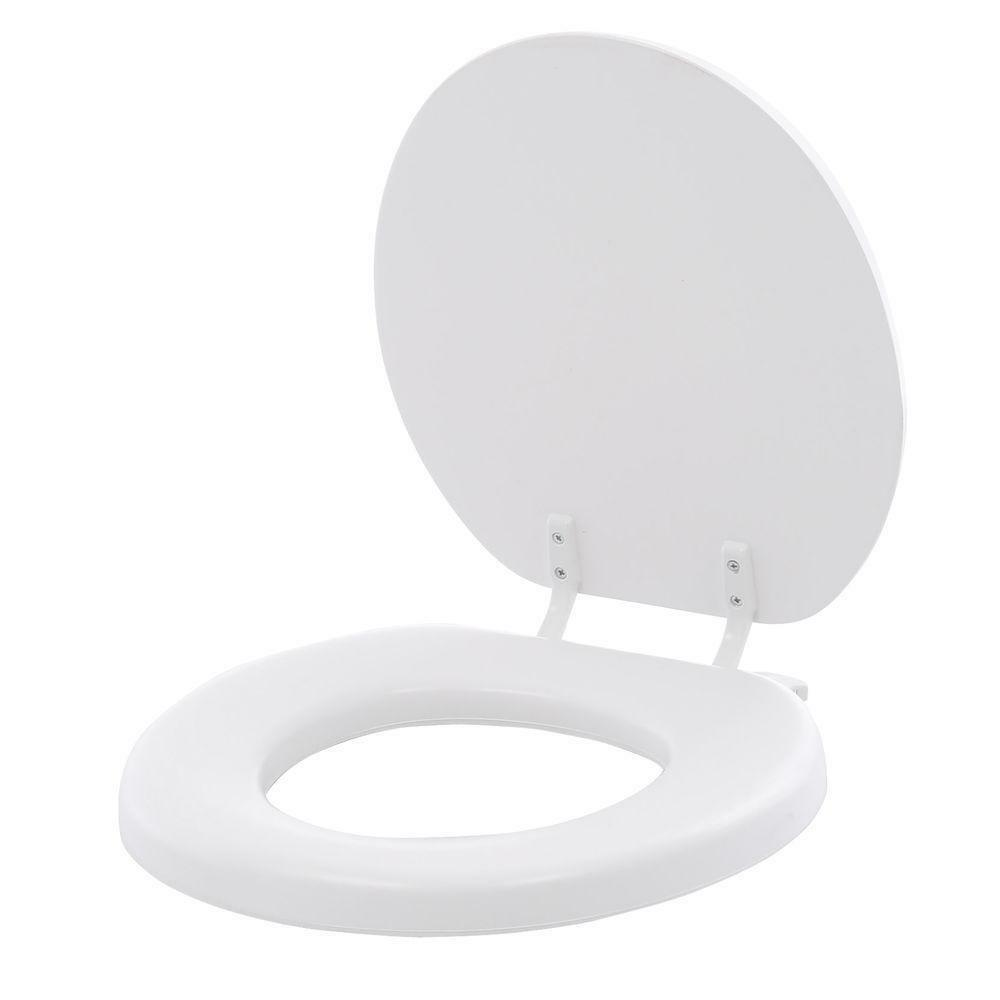 Bemis Padded Round Closed Front Toilet Seat Lid Cover Soft