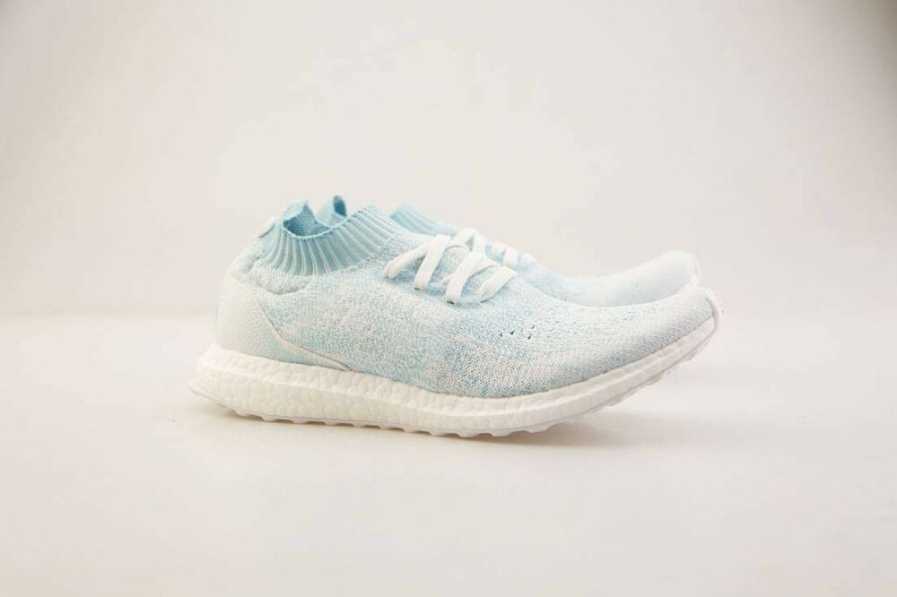 9babca46a20b0 Details about Adidas Men UltraBOOST Uncaged Parley Icey Blue White CP9686