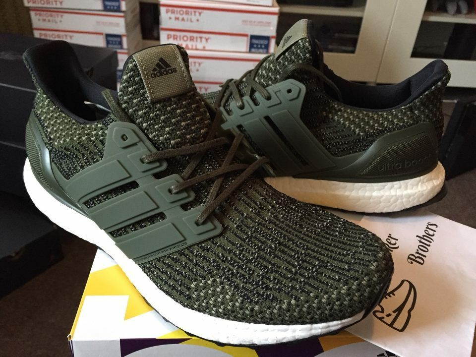 a5d5431e181cb Details about Adidas Ultra Boost M ESM LTD Olive 3.0 Military Green Trace  Cargo Utility BA7748