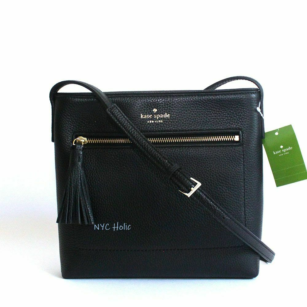New Kate Spade New York Chester Street Dessi Leather Crossbody Black NWT  98689979601  b08a55983ebb4