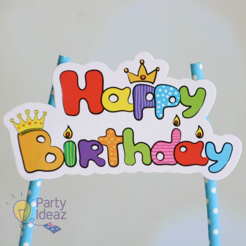 Details About Kids Birthday Cake Topper