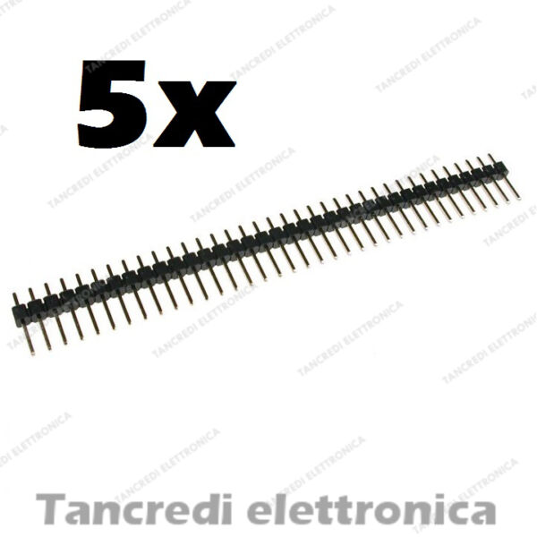 5 pz Connettori strip line 40 poli pin maschio L=6mm stripline separabili header