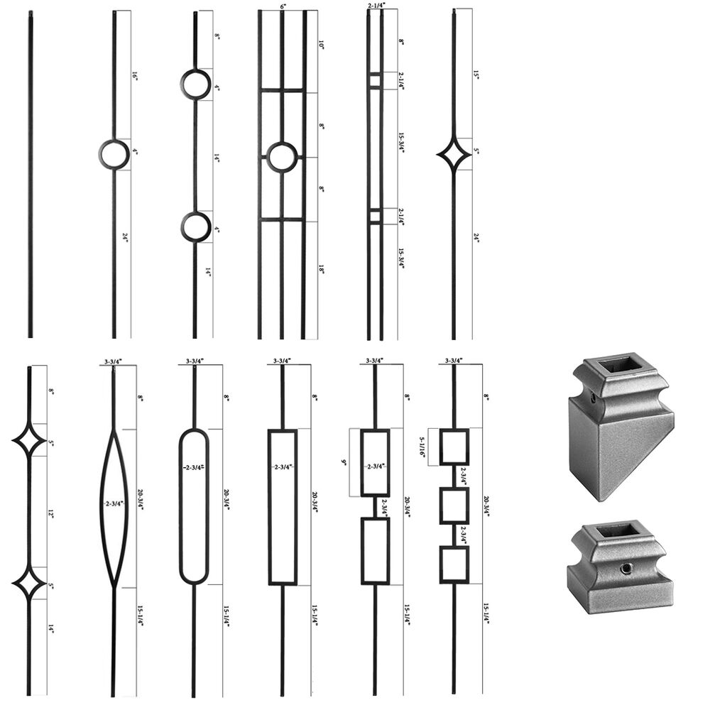 Ash Grey - Aalto Iron Balusters - HOLLOW Wrought Iron ...