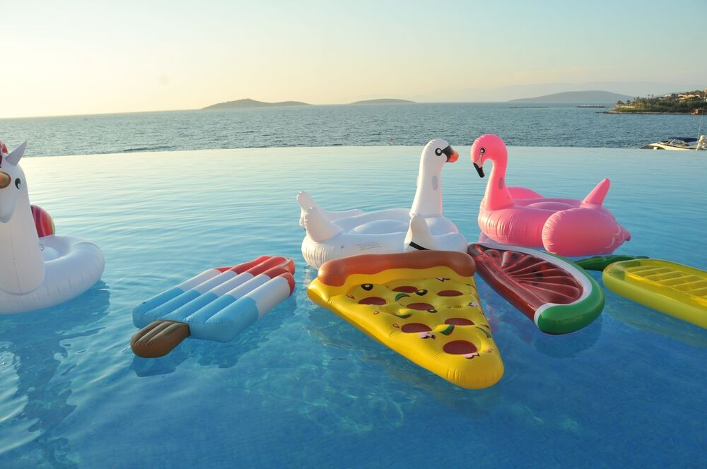 Inflatable Giant Flamingo Swan Unicorn Pool Float Ring