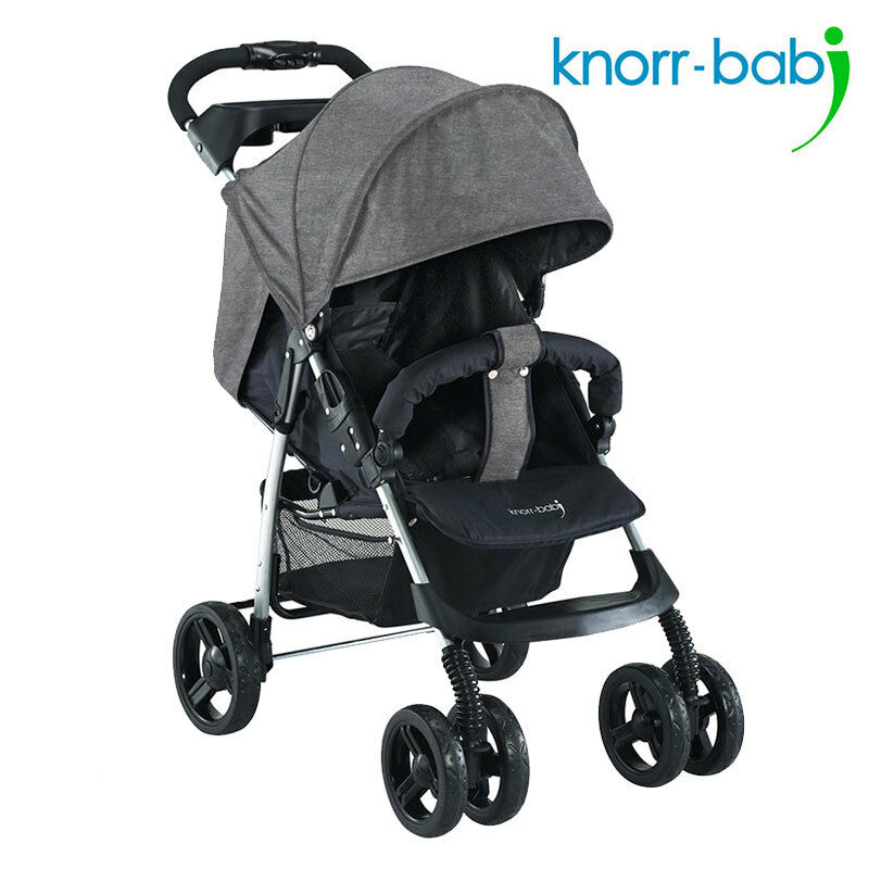 knorr baby buggy sportwagen v easy fold melange grau neu baby kind kinder ebay. Black Bedroom Furniture Sets. Home Design Ideas