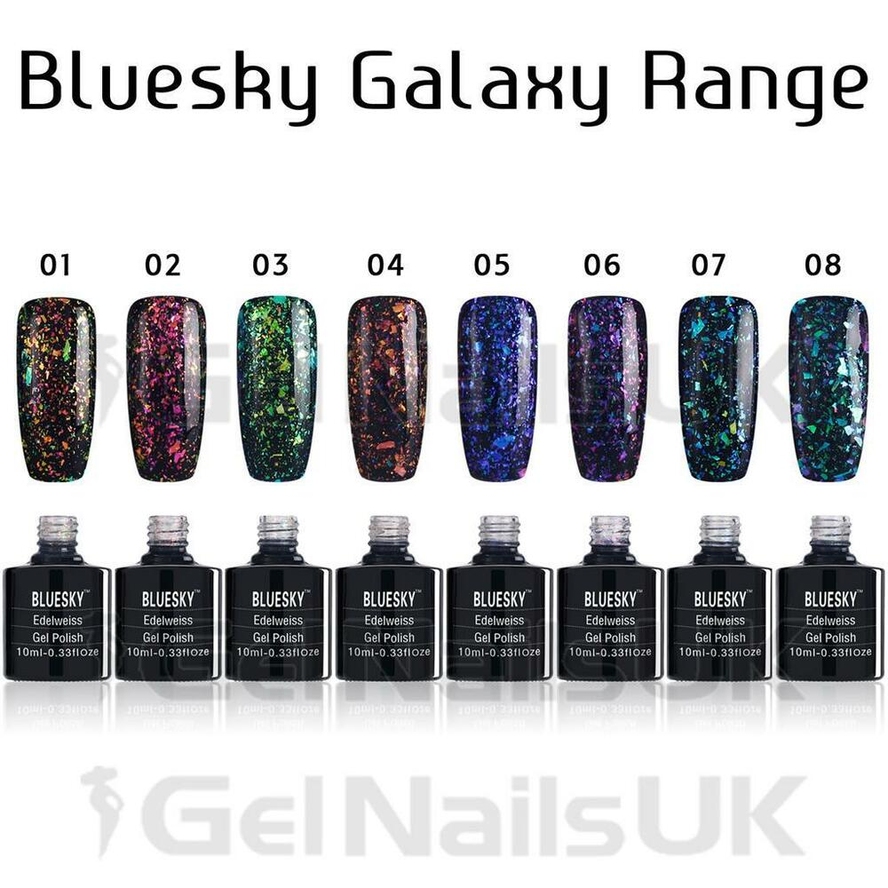 Gelaxy Gel Nail Polish: Bluesky GALAXY Range Chameleon Flakes UV/LED Soak Off Gel