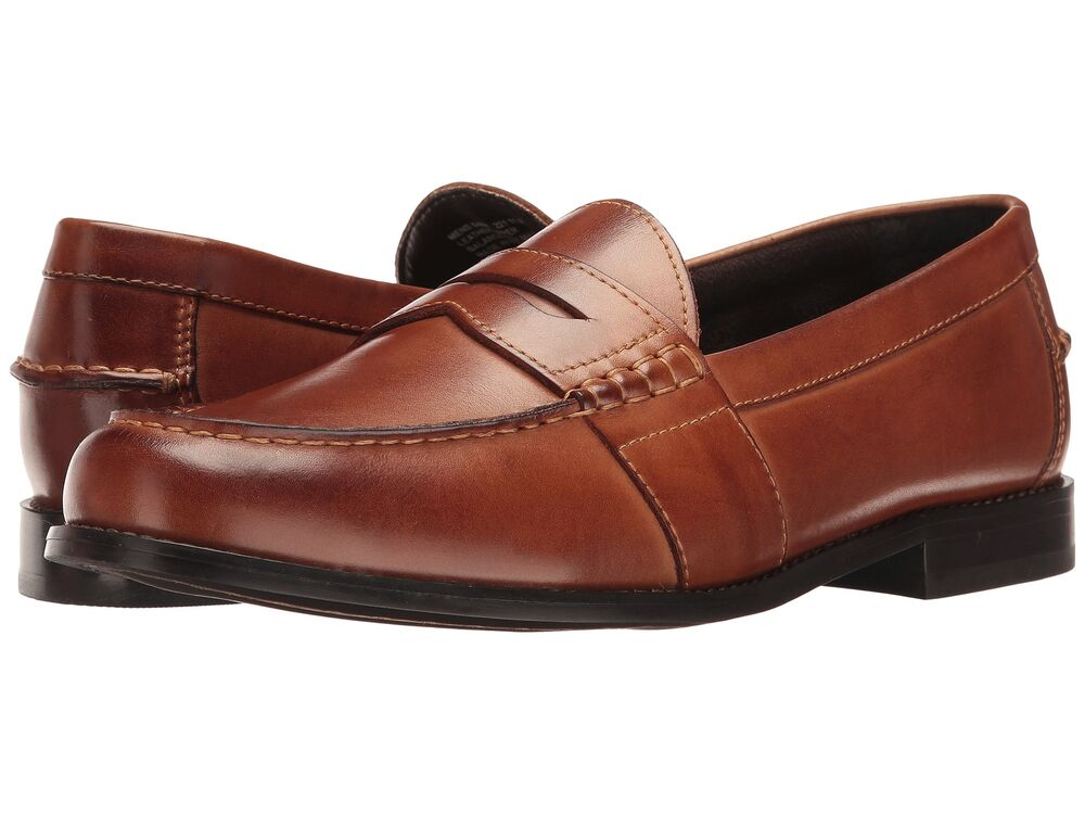Nunn Bush Men S Noah Penny Loafer Slip On Leather Cognac