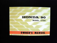 HONDA - 1972-73 - CT90 - K4 - Trail90 - OWNER'S MANUAL (maintenance too!) Look!