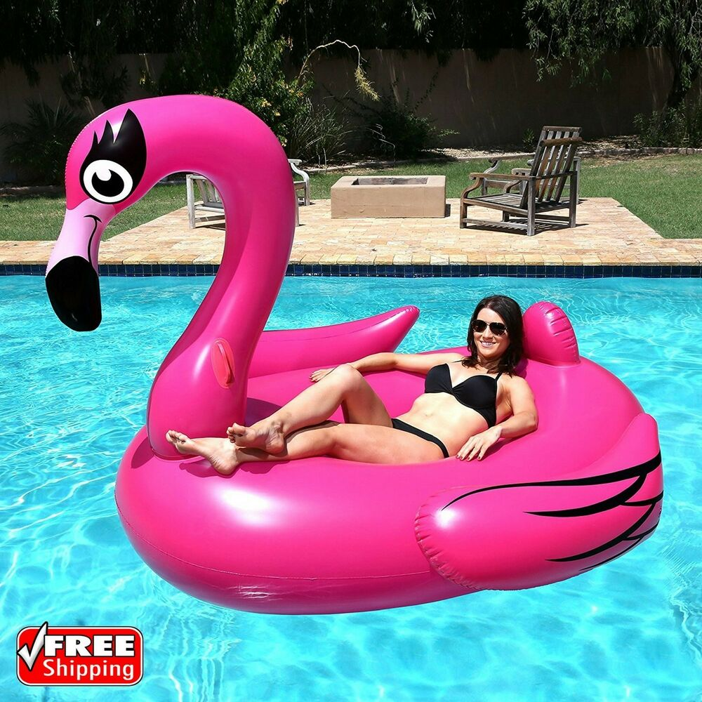 Giant Inflatable Leisure Flamingo Swan Rideable Swimming