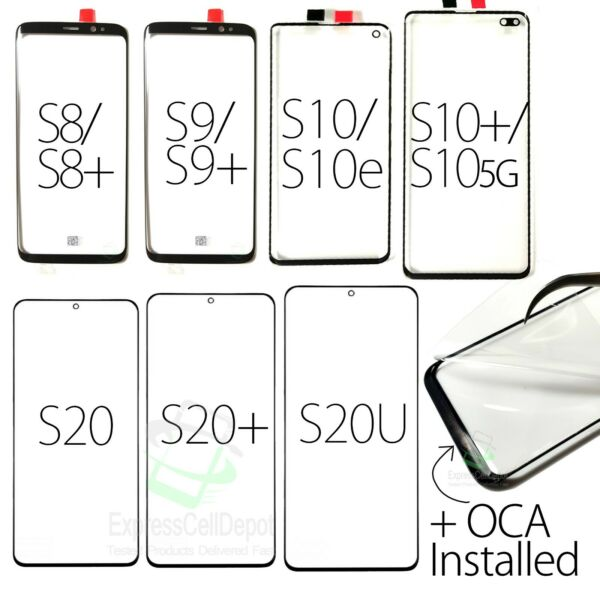 For Samsung Galaxy S8/S8 Plus Replacement Back Glass Cover Repair Part w tape