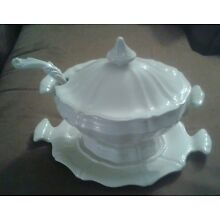 1960's Heirloom Red Cliff Large Oval Soup Tureen