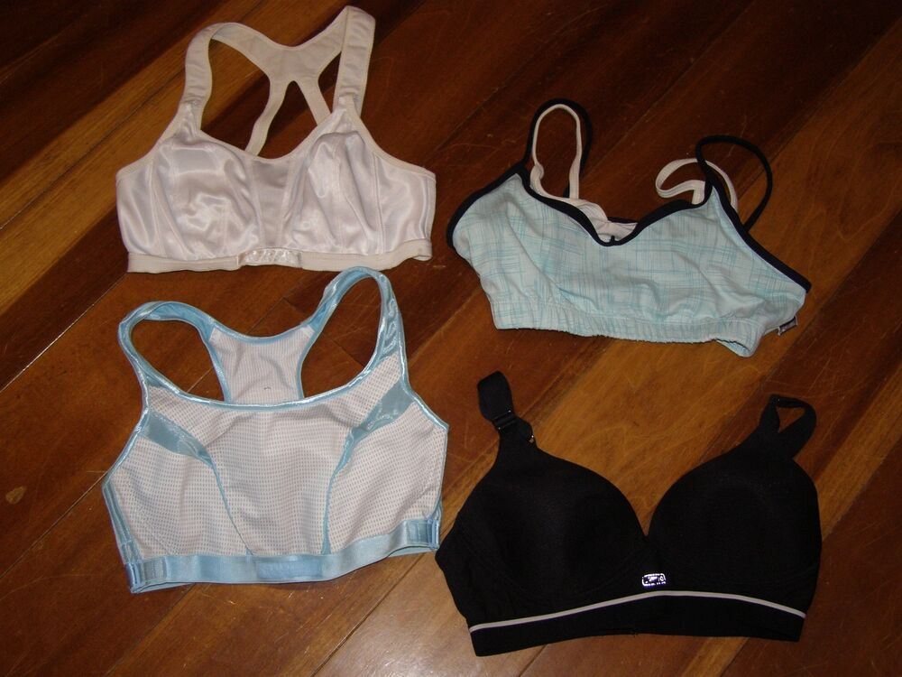 42f10c4843 Details about Lot 4 Womens Shock Absorber Speedo Avia Sports Bras 34D 34DD  Bra Active Athletic