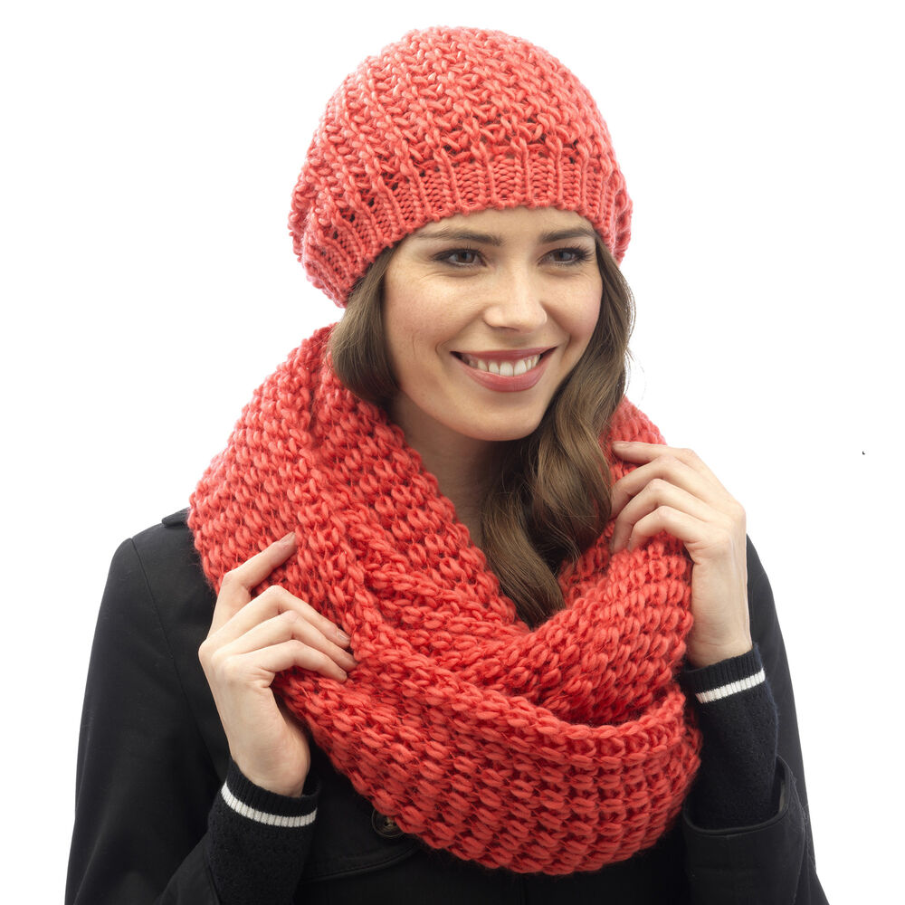 Details about Tom Franks Women s Cable Knit Beanie Hat OR Scarf OR Beanie  Hat with Scarf a2f7c38f59b