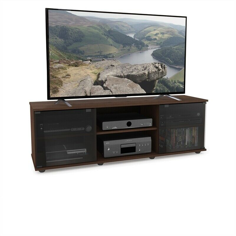 Entertainment Center Glass Low Profile By Fiji 60 Tv Stand In Urban