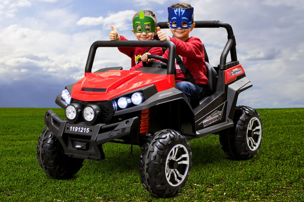 kinder elektro atv auto golf cart 4x 45w 2x12v 2 sitzer ebay. Black Bedroom Furniture Sets. Home Design Ideas