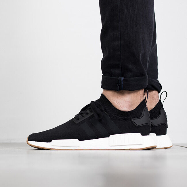 4cef5ab86ec7d Details about Adidas NMD R1 PK size 13.5. Core Black Gum White. BY1887.  Primeknit. ultra boost