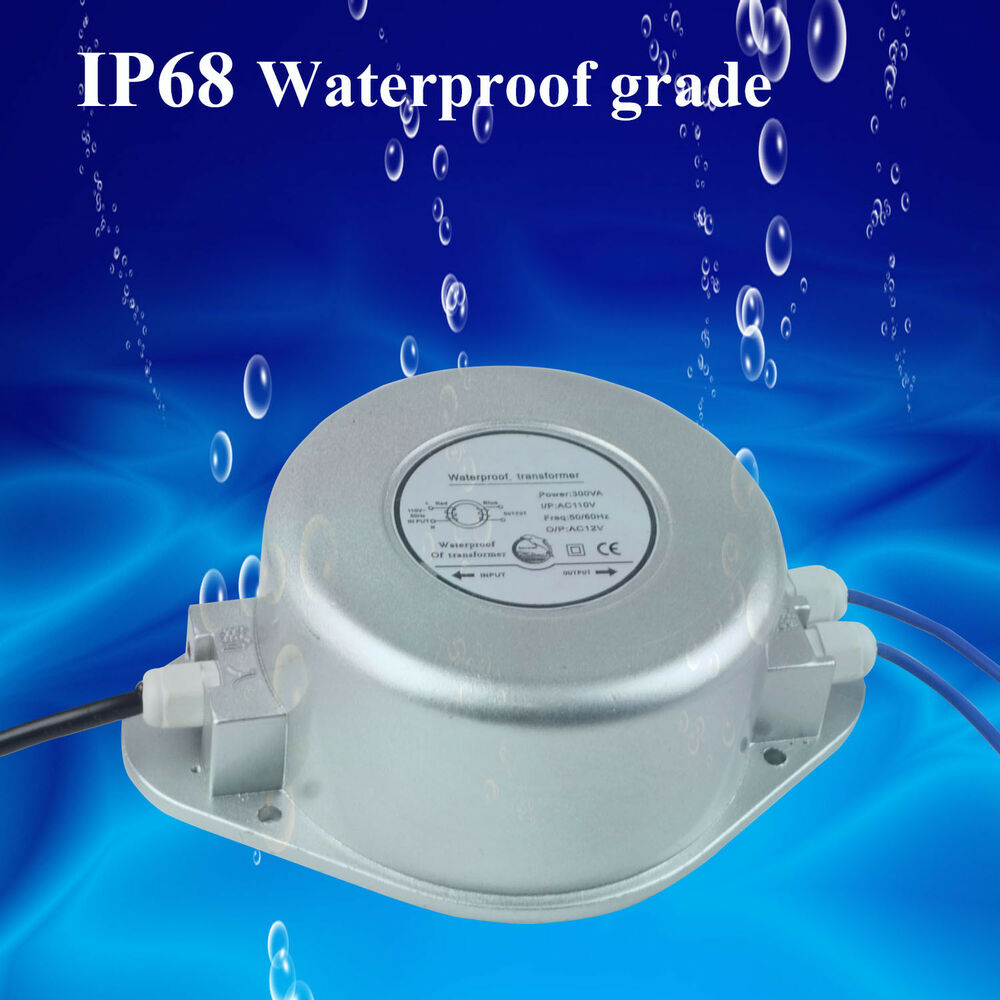 IP68 220V To AC12V Waterproof Square / Toroidal Swimming