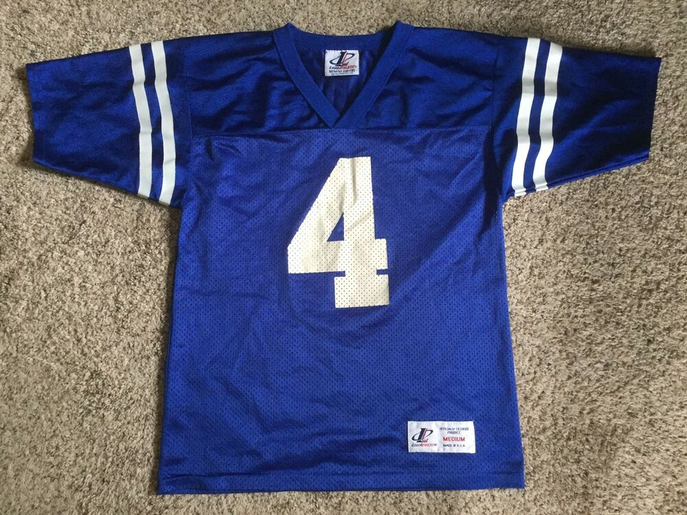 Youth VTG Logo ATHLETIC Indianapolis Colts JIM HARBAUGH NFL Football JERSEY  Sz M  83f29ed80