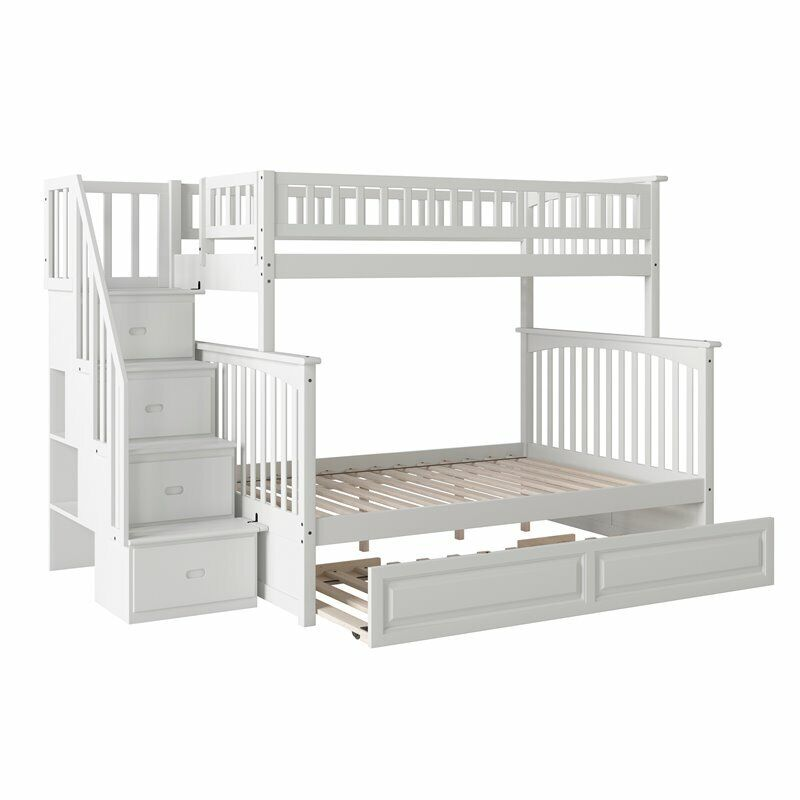 Columbia Staircase Bunk Twin Over Full Raised Panel