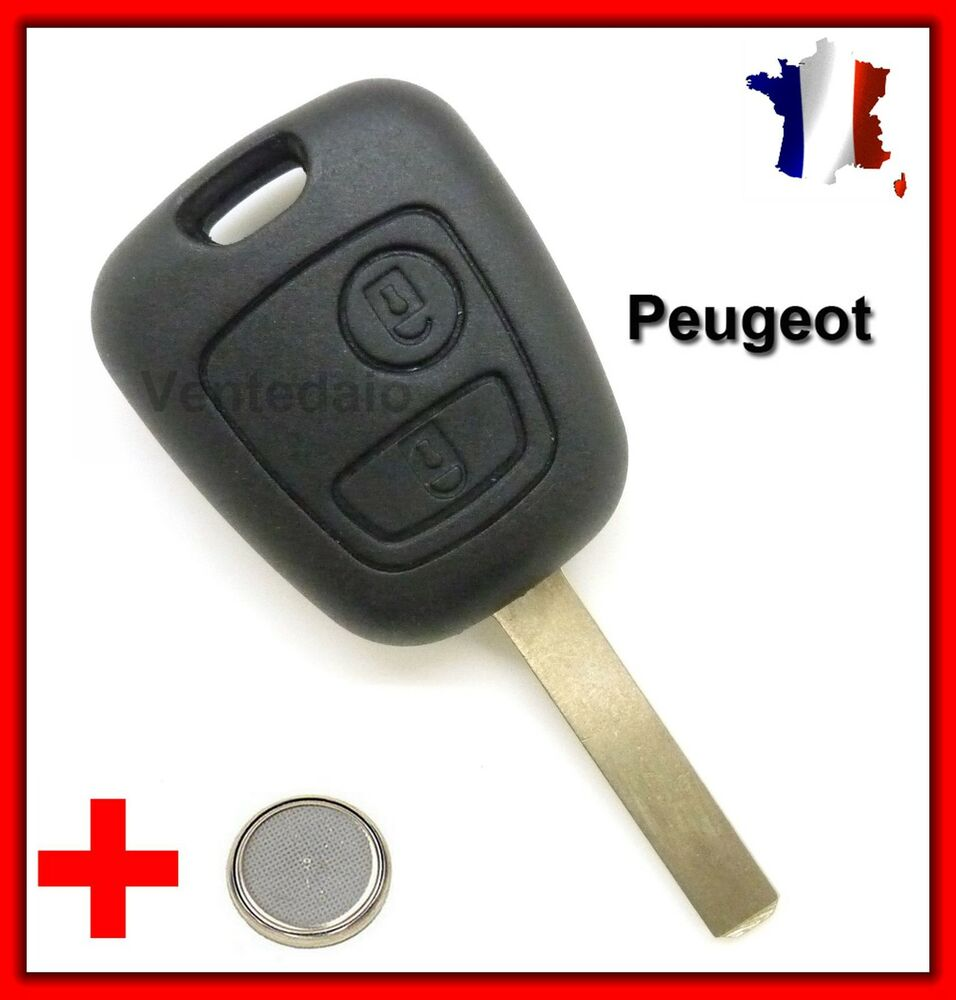 coque plip t l commande cl peugeot 106 107 207 307 pile bouton offerte ebay. Black Bedroom Furniture Sets. Home Design Ideas