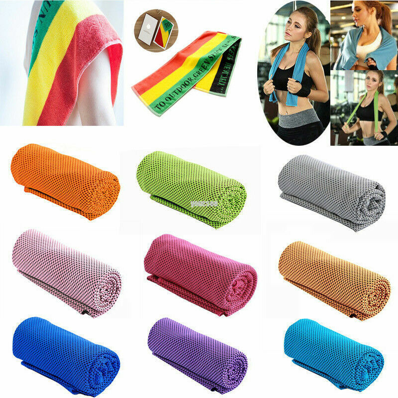Athletic Sweat Towels: 1x Absorbent Fitness Dry Cooling Sports Towel For Gym
